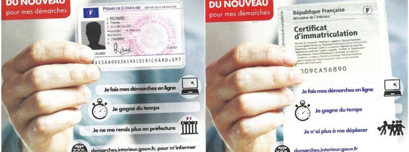 le permis de conduire la carte grise porte de clic